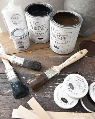 marrone vintage chalk paint