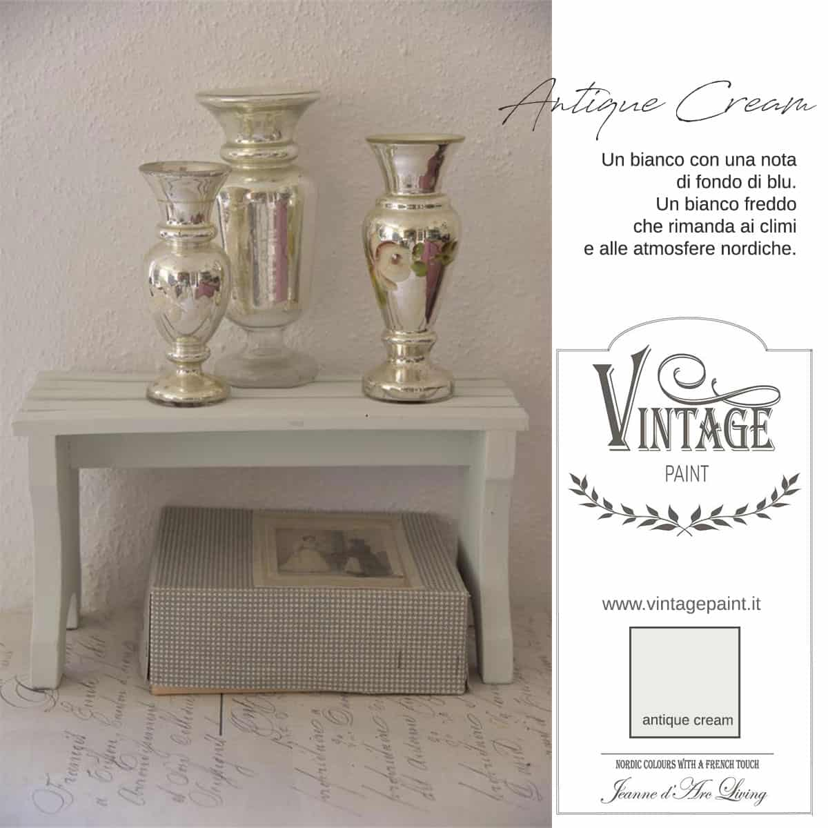 antique cream vintage chalk paint vernici shabby chic autentico look gesso