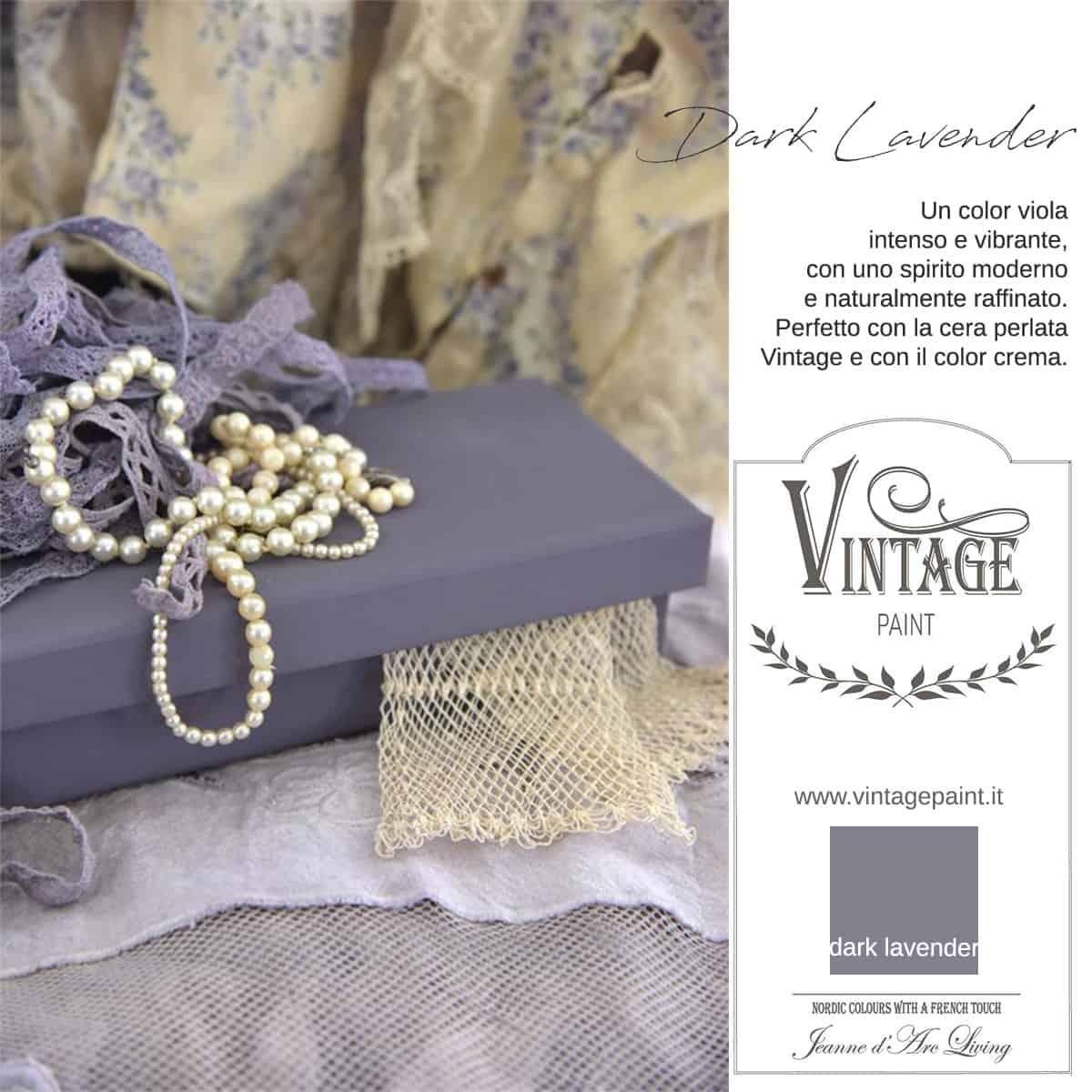 dark lavender viola vintage chalk paint vernici shabby chic autentico look gesso