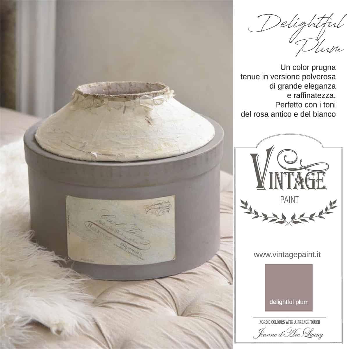 delightful plum viola prugna vintage chalk paint vernici shabby chic autentico look gesso