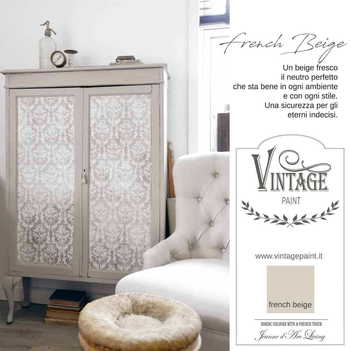 french beige vintage chalk paint vernici shabby chic autentico look gesso
