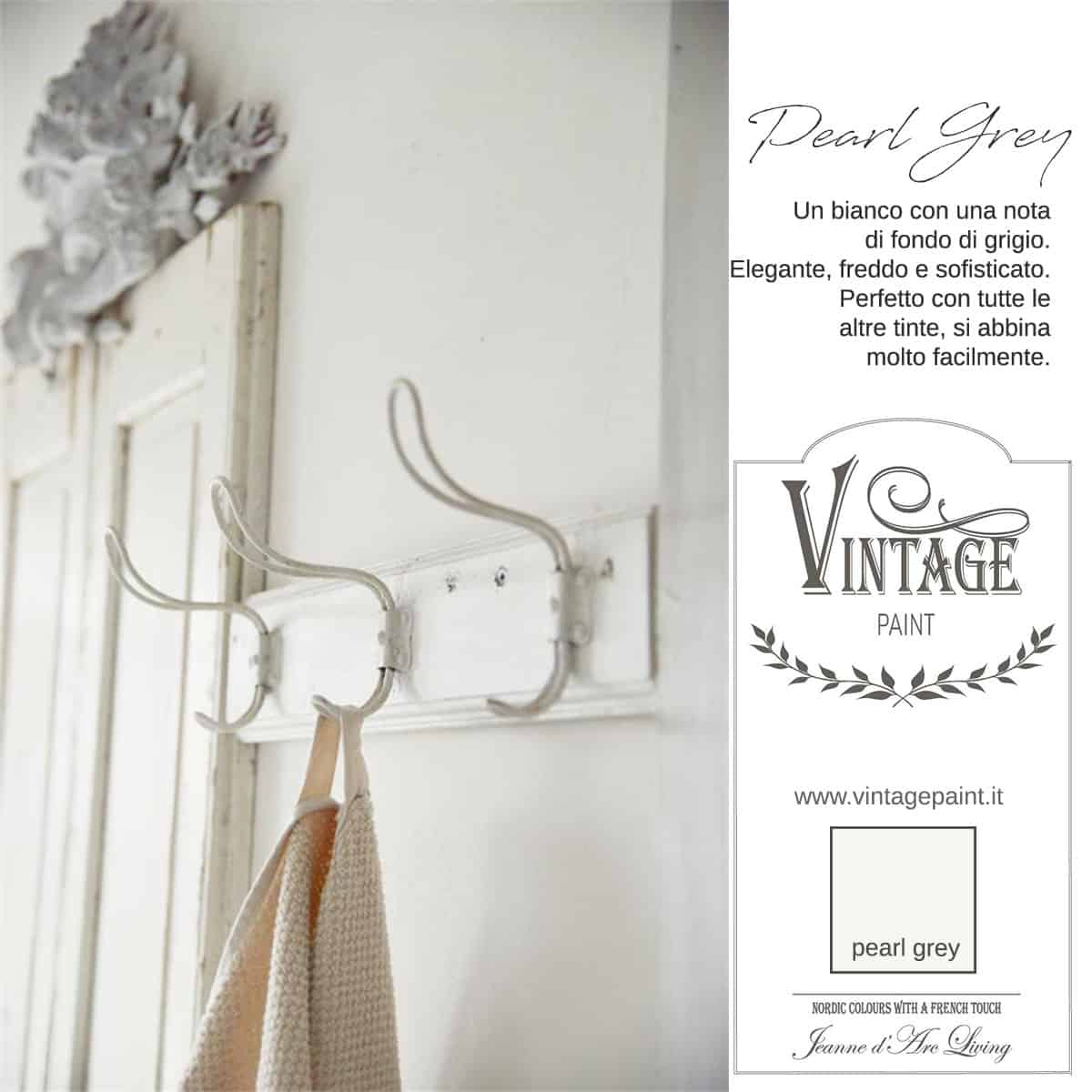 pearl grey vintage chalk paint vernici shabby chic autentico look gesso