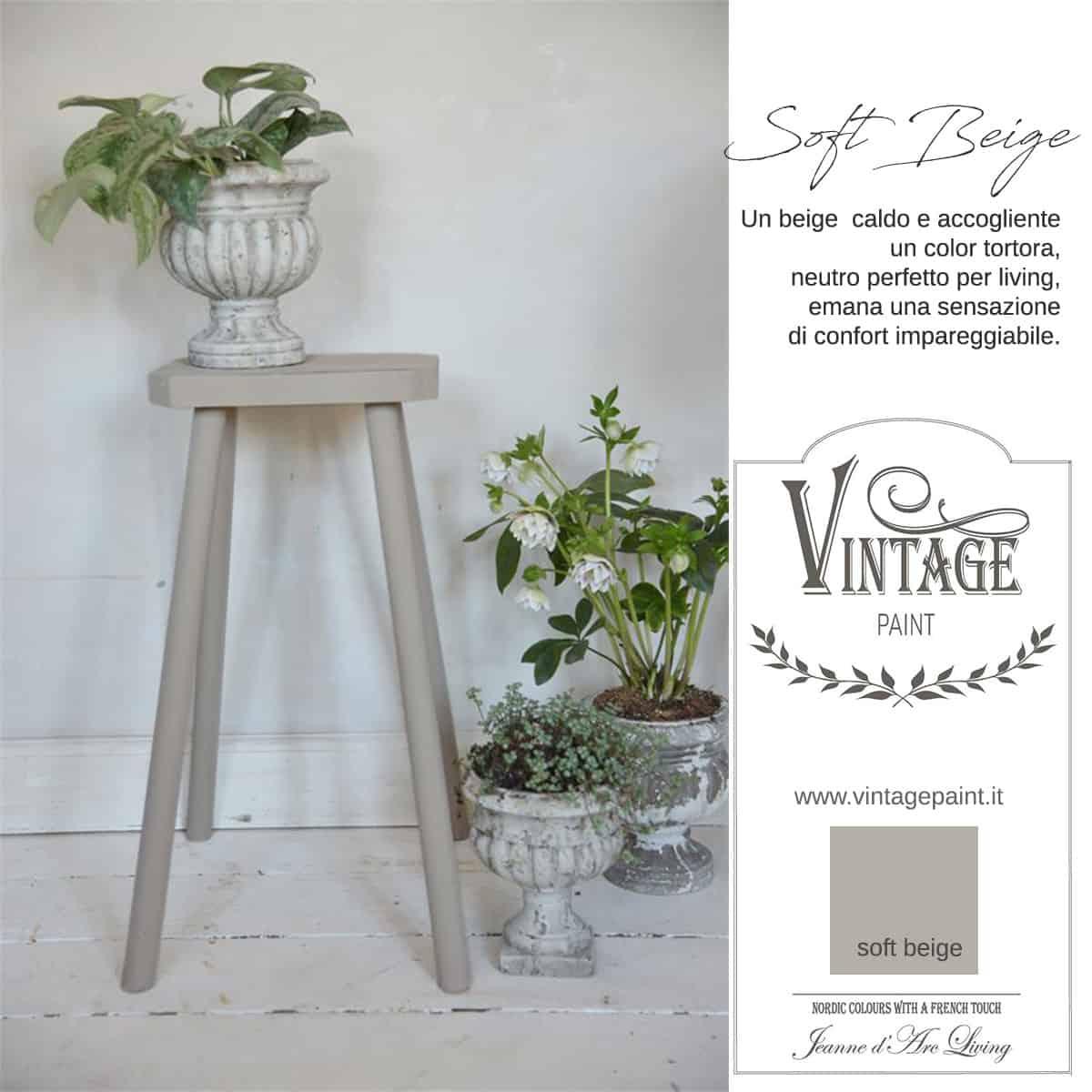 soft beige tortora vintage chalk paint vernici shabby chic autentico look gesso