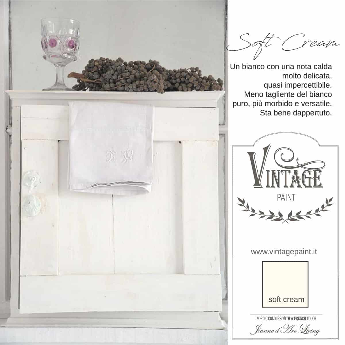 soft cream vintage chalk paint vernici shabby chic autentico look gesso