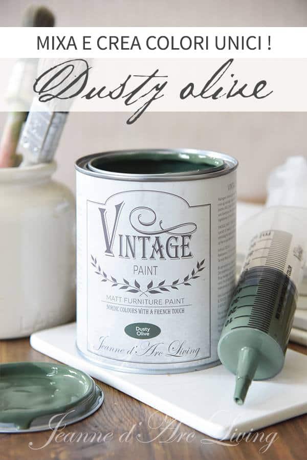 creare tinte personalizzate con la vintage chalk paint