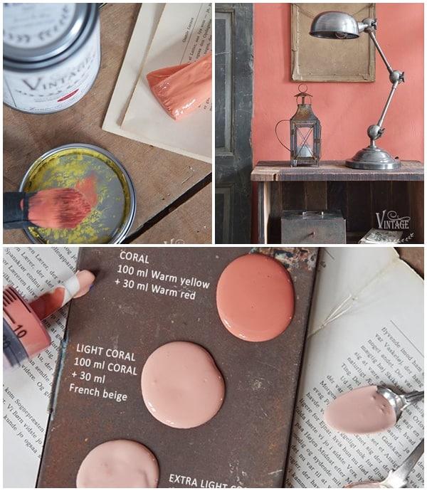 corallo colore pantone 2019 creare con chalk paint