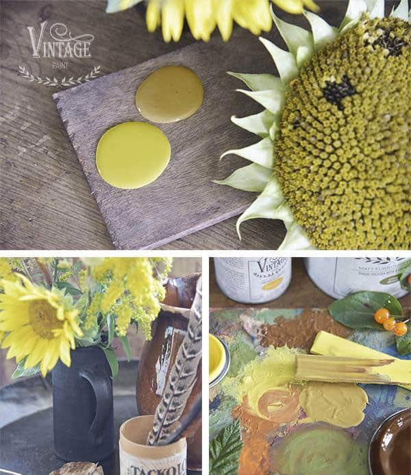 giallo mostarda vintage chalk paint