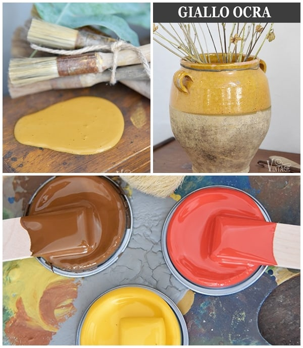 giallo ocra vintage chalk paint