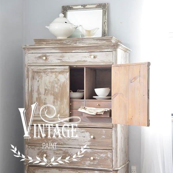 Invecchiare un mobile con la Vintage chalk Paint e la vaselina