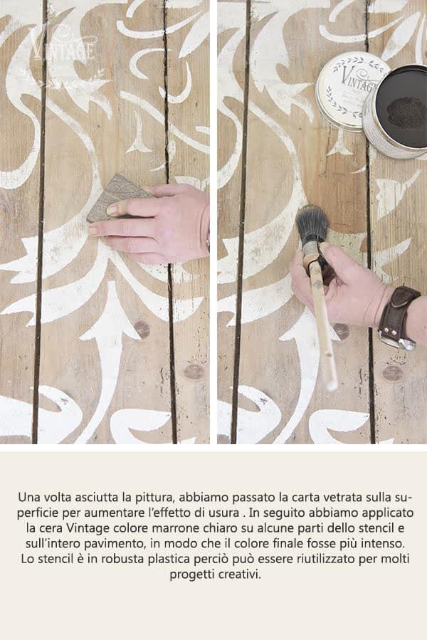 applicare uno stencil su legno