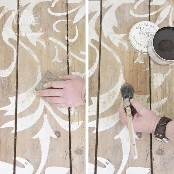 Stencil su pavimento in legno con la Vintage chalk Paint – TUTORIAL