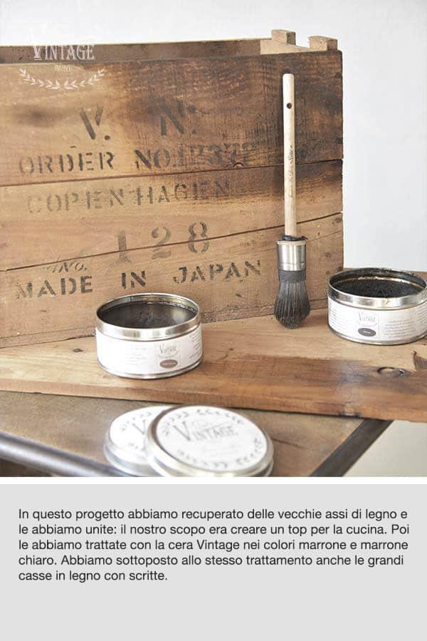 rinnovare vecchio legno con le cere Vintage
