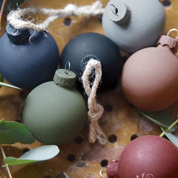 Ricolorare le palline di Natale con la Vintage chalk Paint – TUTORIAL