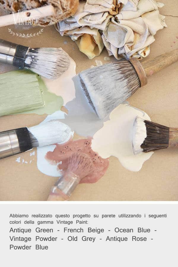 effetti decorativi su parete con pittura a gesso