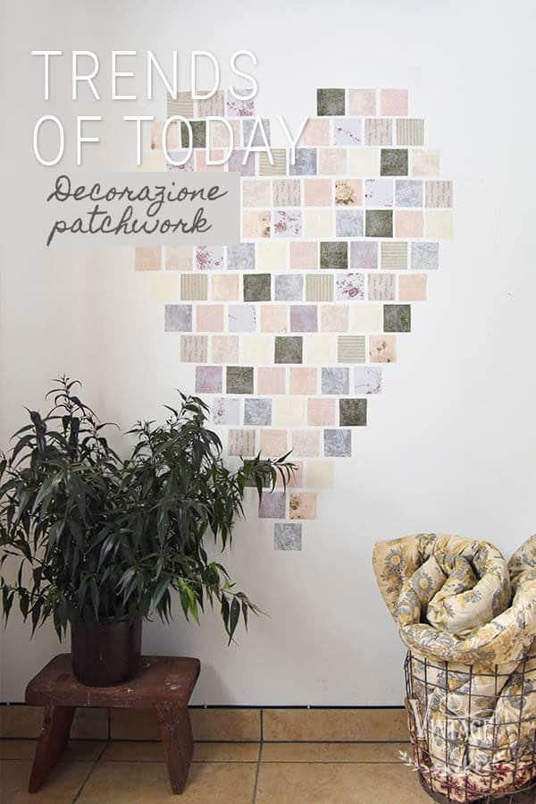 patchwork con carte da parati