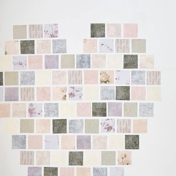 lavoretti patchwork con carta da parati