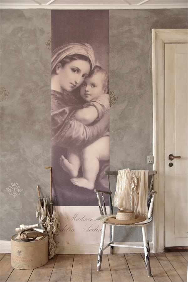 poster religiosa madonna con bambino
