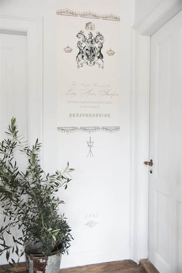 decorazione shabby chic per porte