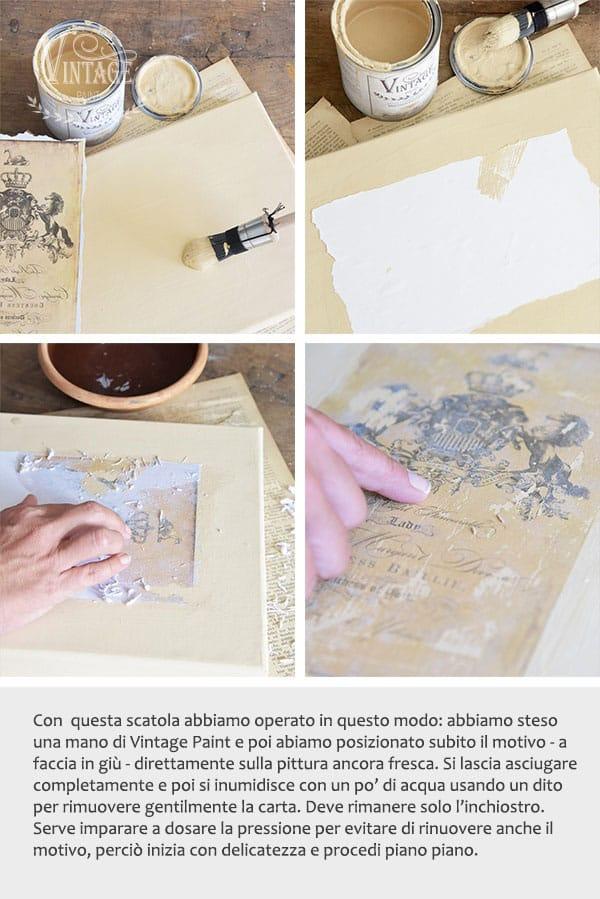 trasferimento immagini e scritte