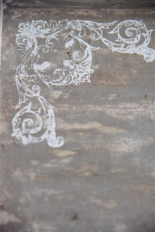 timbro per decorazioni angolo