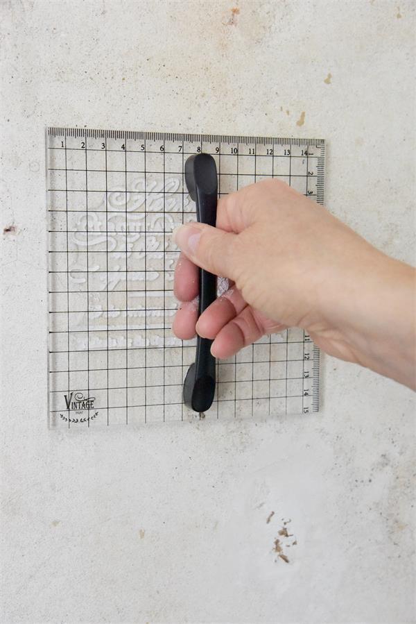 supporto blocco acrilico per timbri
