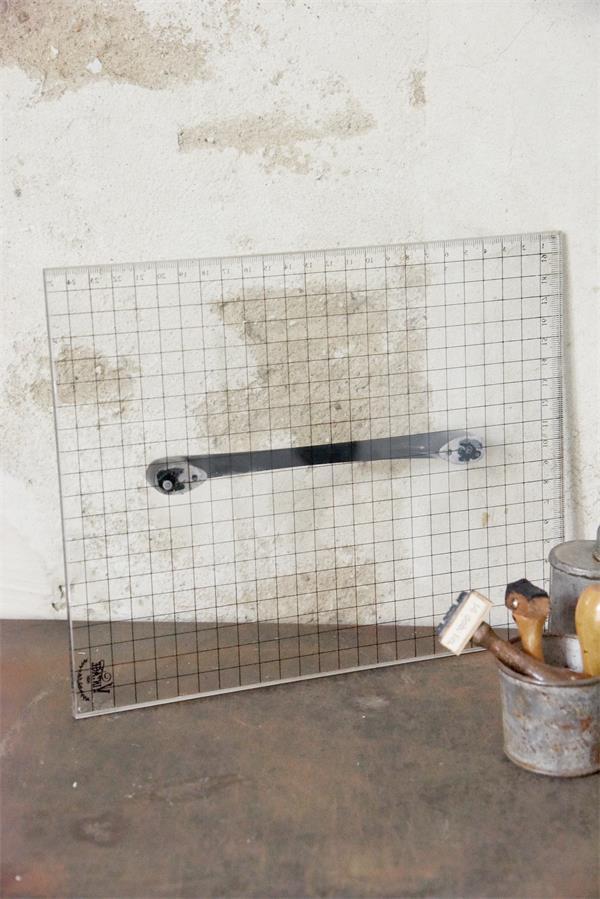 blocco acrilico grande con maniglia per timbri