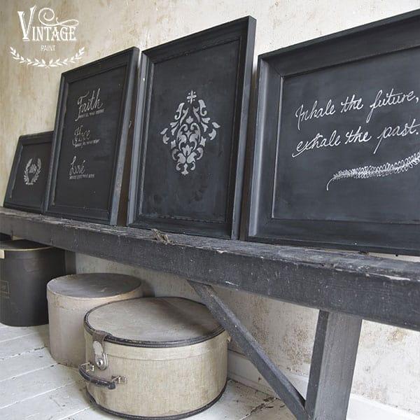 Lavagne fai da te con la vernice a gesso Vintage chalk Paint – TUTORIAL