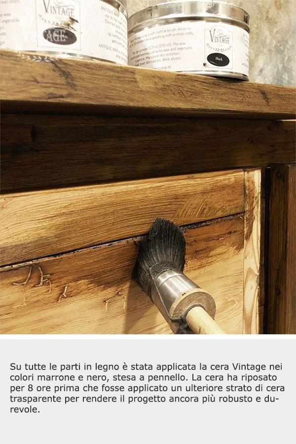 antichizzare il legno con le cere