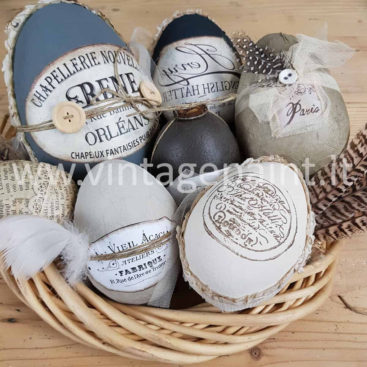 Uova di Pasqua stile shabby chic con la Vintage chalk Paint – VIDEO TUTORIAL