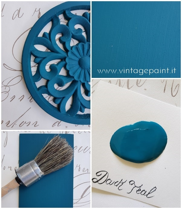 dark teal color ottanio vintage chalk paint