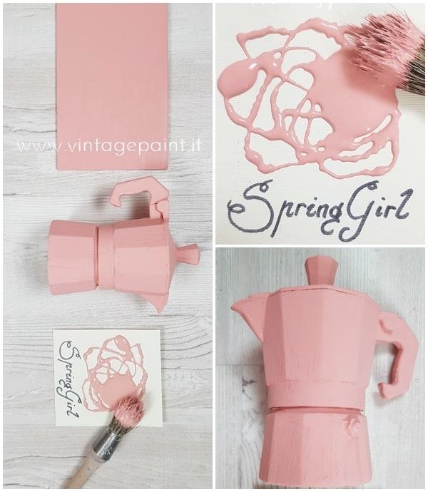 colore rosa cipria vintage chalk paint