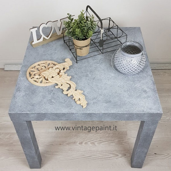 Ricolorare Tavolino Ikea Vernice Effetto Cemento