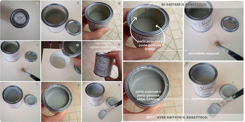 come si usa la magica Vintage chalk Paint